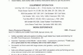 Sample Resume For Heavy Equipment Operator by Machine Operator Objective For Resume Reentrycorps