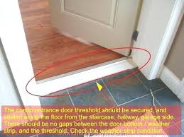 Exterior Door Bottom Seal Exterior Door Bottom Seal Replacement Bottom Of Front Door Weather