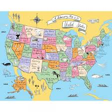 52 states of america list a literary map of the united states ibd 2017 exclusive green