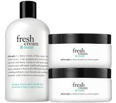 philosophy fresh cream u0026 mint shower gel and souffle duo page 1