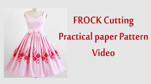 frock cutting and stitching in tamil with paper pattern youtube