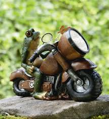 solar frog light frog on motorcycle with solar light