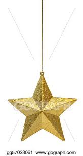 Christmas Decorations On White Background by Stock Illustration Golden Christmas Decoration Star Hanging