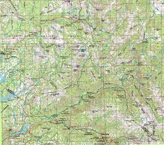 Topo Map Map Carson Iceberg Wilderness Backpacking Trails Topo