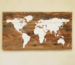 wood world map s push pin travel map reclaimed wood wall