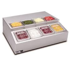 Refrigerated Prep Table by Refrigerated Topping Rail Counter Top Condiment Dispenser Self