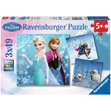 Chambre Reine Des Neiges by 3 Puzzles U0027la Reine Des Neiges U0027 De U0027ravensburger U0027 Fille Bleu