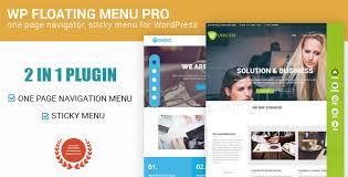 Sticky Top Bar Wp Floating Menu Pro One Page Navigator Sticky Menu For