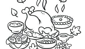 food coloring pages thanksgiving feast coloring pictures pages