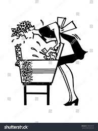 vintage martini clipart woman using washboard retro clipart illustration stock vector