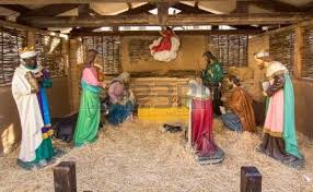 popular nativity up stock photo