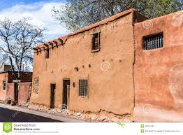 adobe house old adobe house santa fe new mexico usa stock photo image