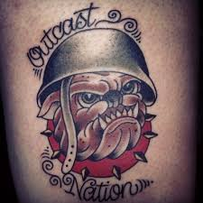 bulldog tattoo by ishmael u2013 lucky devil tattoo