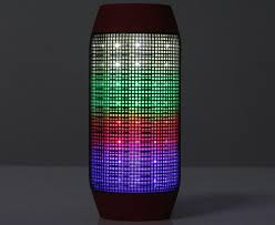 Party Speakers With Lights Wireless Bluetooth 3 0 Speaker With Colorful Led Light Disc