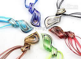 art glass necklace pendant images Wholesale thread art murano glass pendant beaded necklace fashion jpg