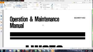 komatsu lw250 5 operation u0026 maintenance manual dhtauto com youtube