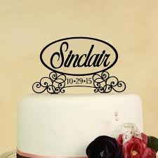 wedding cake topper personalized in your name and wedding date in