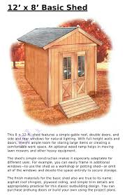 Simple Wood Shed Plans Free by 12 X 8 Shed Plans Free