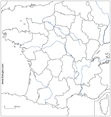 European Union Blank Map by Blank Map Of French Rivers And French Regions