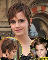 how long for hair to grow out of inverted bob emma watson is growing out her pixie cut do you like the