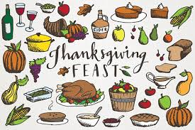 thanksgiving feast clipart illustrations