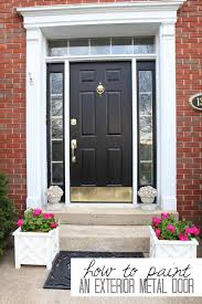 Steel Exterior Entry Doors How To Paint A Metal Door