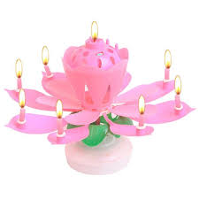 lotus birthday candle beautiful blossom lotus birthday rotating candle cosless
