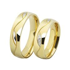 gold wedding rings new korean edition 18k gold fashion engagement
