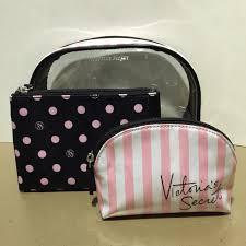 victoria 39 s secret victorias secret trio cosmetic bag from thess 39 s closet on poshmark