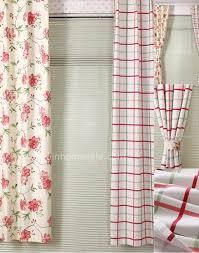 plaid elegant metal hooks colorful curtains sale online