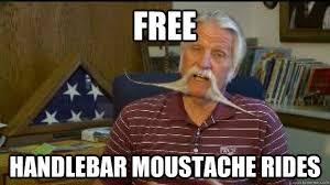 Handlebar Mustache Meme - free handlebar moustache rides handlebar guy quickmeme
