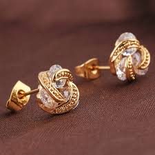 gold earring studs designs stud gold earrings designs beautify themselves with earrings