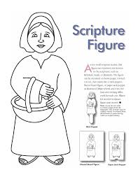 woman scripture figure make into puppet church pinterest