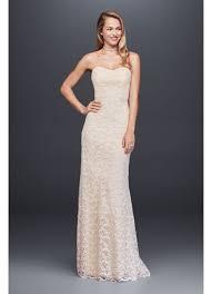 sheath wedding dress guipure lace sheath wedding dress with ribbon sash david s bridal