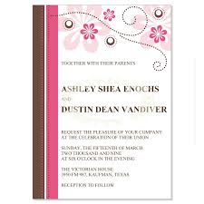 casual wedding invitations casual wedding invitation fuschia wedding invitation with