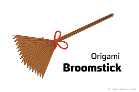 easy origami broomstick instructions