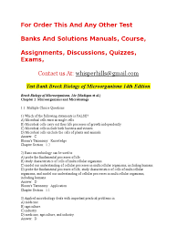 test bank brock biology of microorganisms 14th edition doc