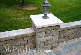Patio Column Lights Imposing Ideas Patio Walls Terrific Fabulous Seating Wall For Your