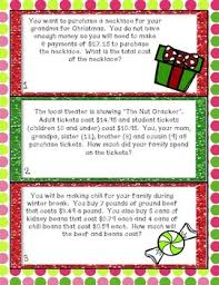 winter math story problems by the special nook tpt