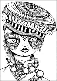 trippy coloring pages printable adults color zini