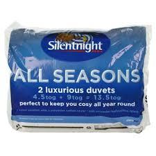 Silent Night King Size Duvet 13 5 Tog Buy Silentnight All Seasons Duvet From Our Double Duvets Range Tesco