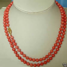 new necklace design images 35 39 39 design long natural 8mm red coral necklace 14k gold clasp ebay jpg
