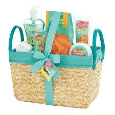 spa basket coconut lime tropical spa basket set