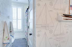 nautical wallpaper cottage bathroom jacksonbuilt custom homes