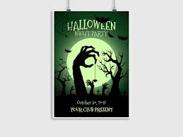 halloween night party poster template creatily market
