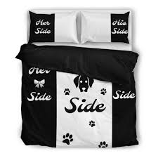 his and hers bed set side his side dog side bedding set mofotee inc