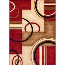 Area Rugs Modern Well Woven Barclay Arcs And Shapes Ivory 9 Ft 3 In X 12 Ft 6 In