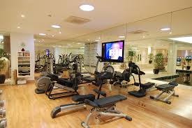 Commercial Gym Design Ideas Captivating Home Gym For Fitness Room Ideas With Grey Carpet Floor