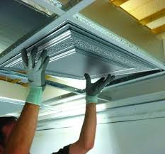 Drop Ceiling Installation by Metal Ceiling Installation Cost Armstrong Ceilings Residential