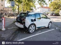 bmw denmark bmw i3 electric car being charged on copenhagen denmark